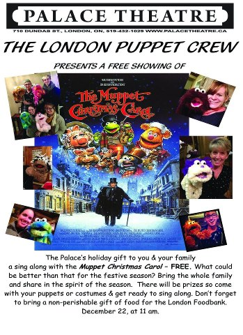 Muppet Christmas Carol at the Palace!