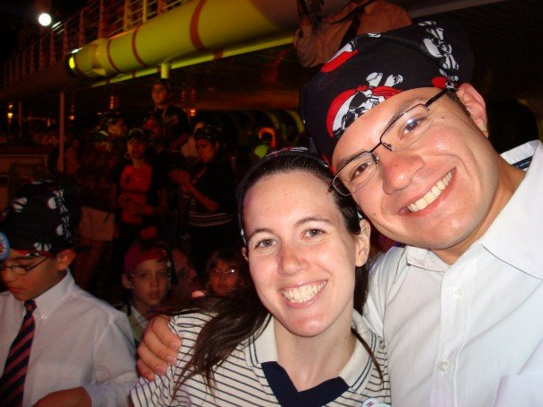 With my former WDW manager Juan during the Pirates IN the Caribbean Deck Party
