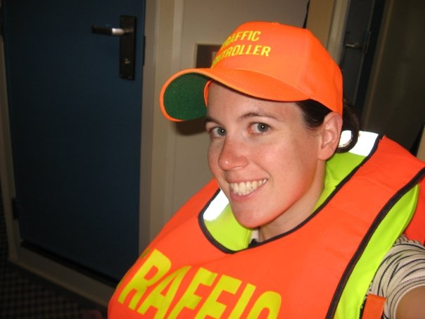 My last DCL traffic controller shift... I was SO happy.  Safety drills, while necessary, are not fun.