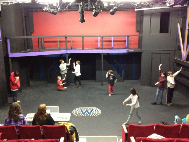 A sneak peek into rehearsal on Thursday January 17.  Hmmm... wonder what they're working on?