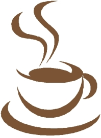 "This is one of the logos that came up when I did a Google search for ""coffeehouse logo.""Advice: get a graphic designer to make you a custom logo!"