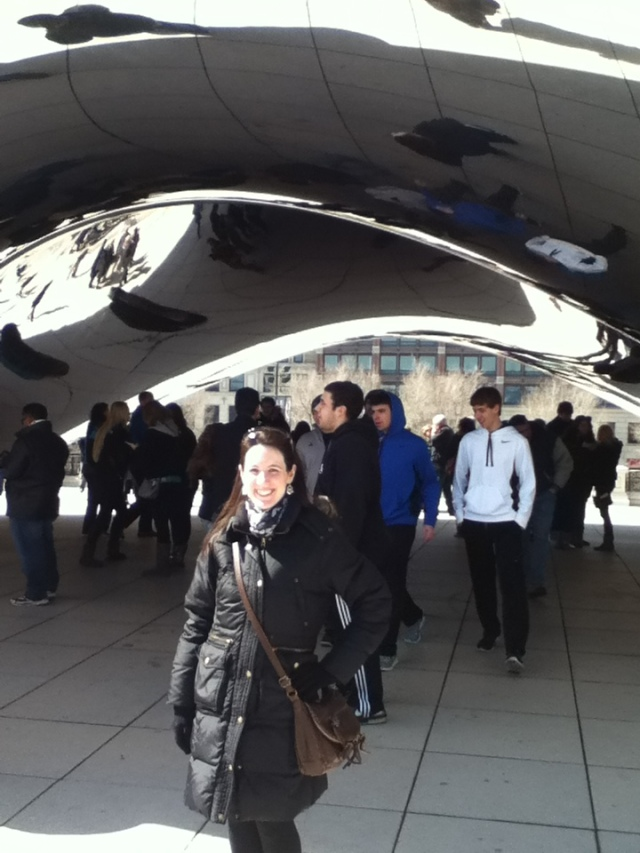 "On my 30th birthday... at ""the bean"" in Chicago!"