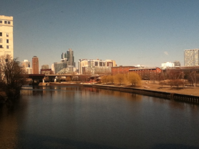 My first glimpse of Chicago, from the train!