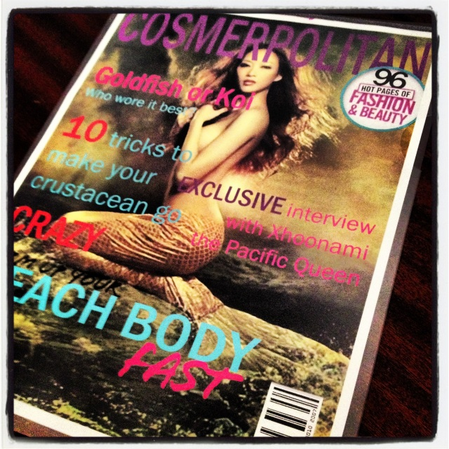 Cosmerpolitan... the hottest magazine for mermaids.Design by Eric Brocksom.