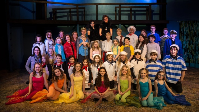 The beautiful cast and crew of The Little Mermaid Jr.!Photo Credit: Malcolm Miller