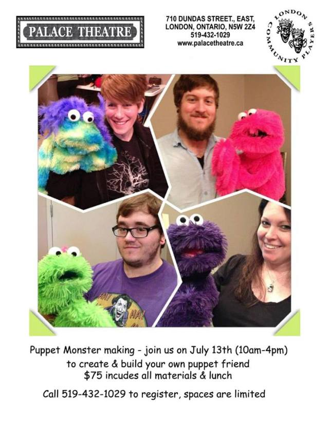 Puppet Making Day 3!  July 13!