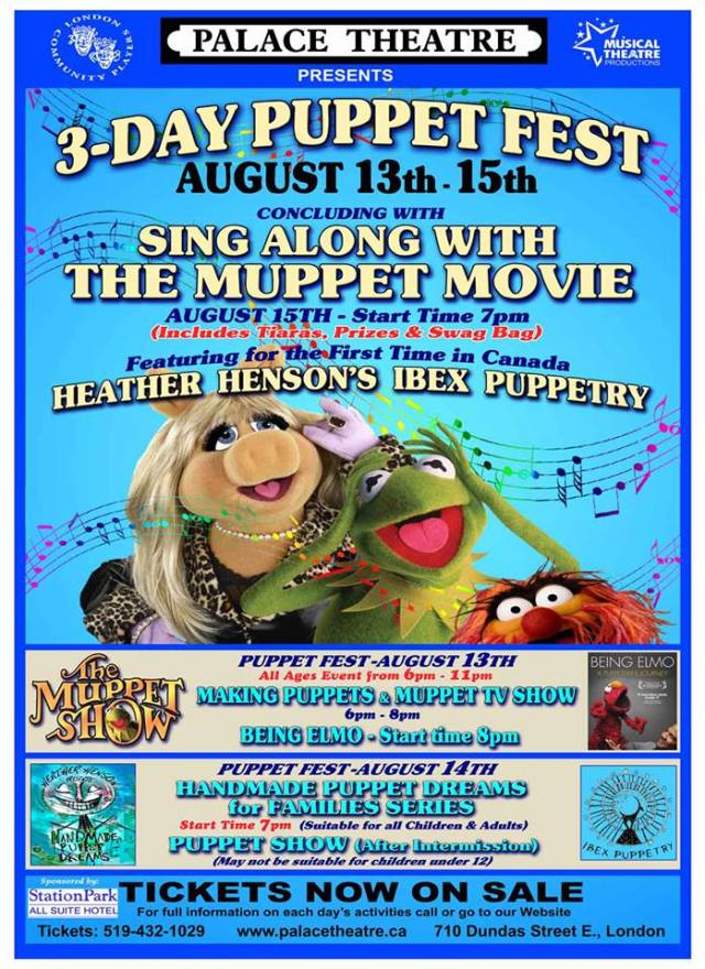 You don't want to miss Puppet Fest at the Palace Theatre!