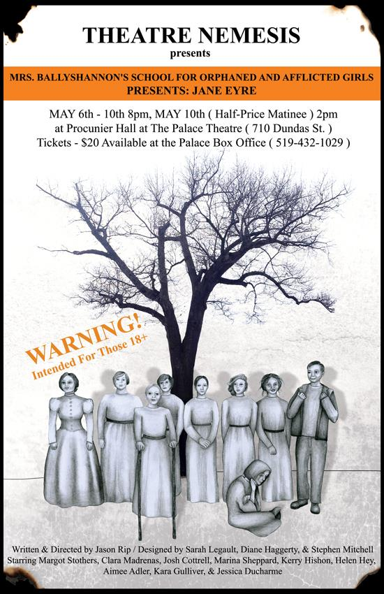 Mrs. Ballyshannon's School for Orphaned and Afflicted Girls Presents Jane Eyre