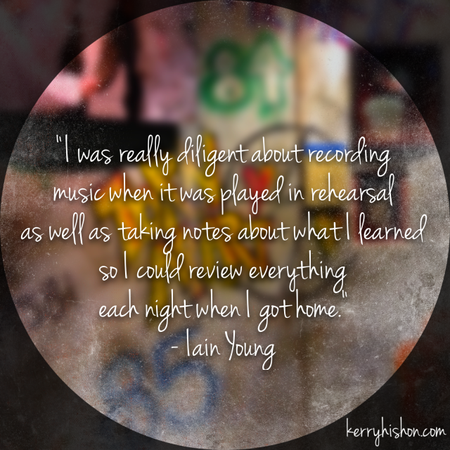 Wednesday Words of Wisdom - Iain Young
