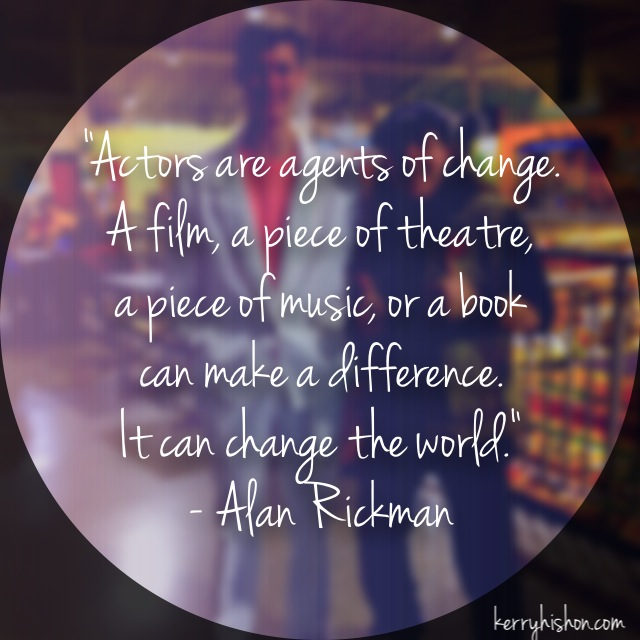 Wednesday Words of Wisdom - Alan Rickman