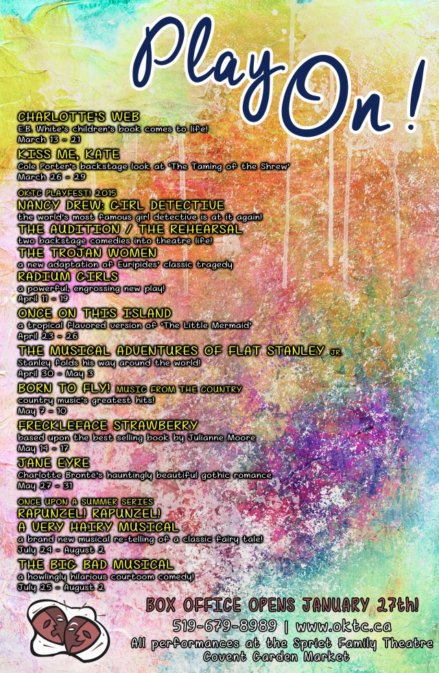 Play On! Presenting the OKTC Spring 2015 Season!