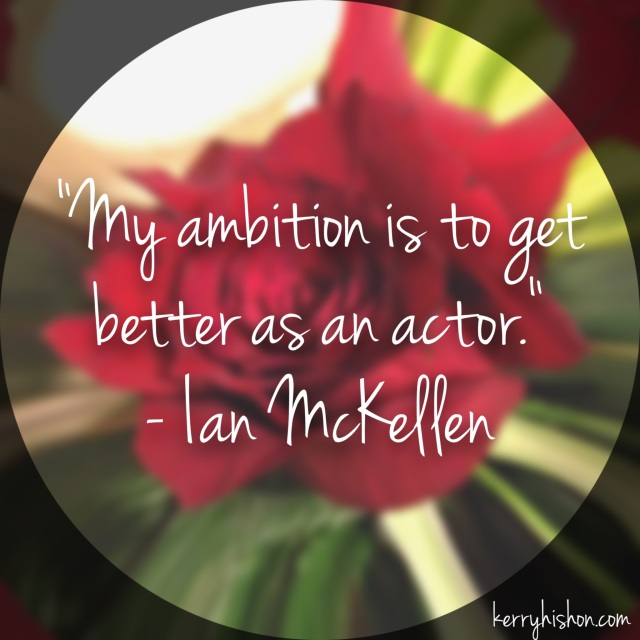 Wednesday Words of Wisdom - Ian McKellen