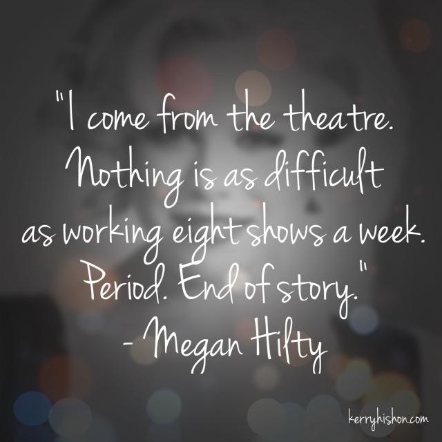 Wednesday Words of Wisdom - Megan Hilty