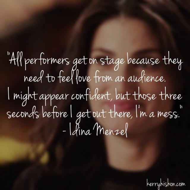 Wednesday Words of Wisdom - Idina Menzel