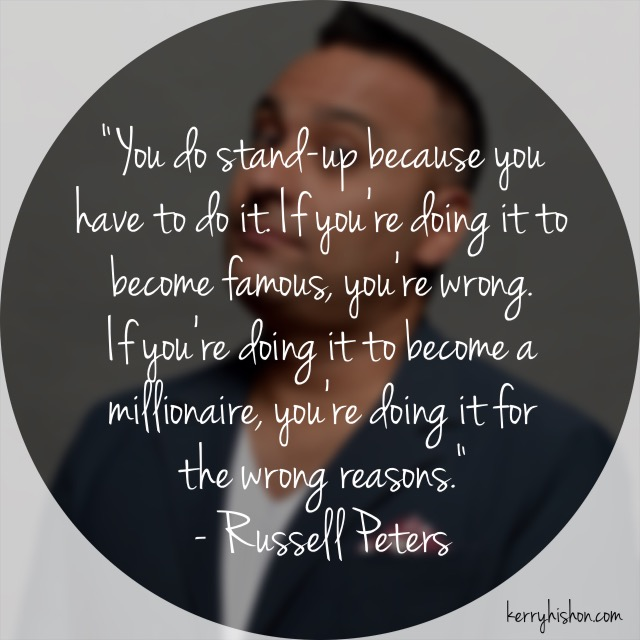 Wednesday Words of Wisdom - Russell Peters