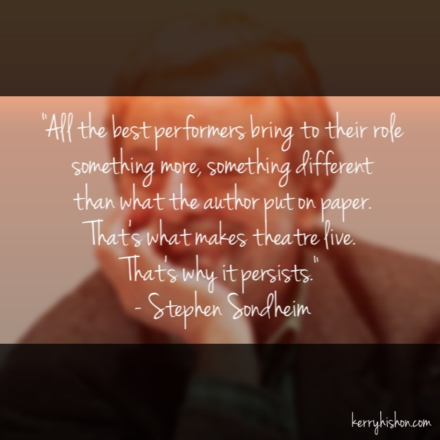 Wednesday Words of Wisdom - Stephen Sondheim
