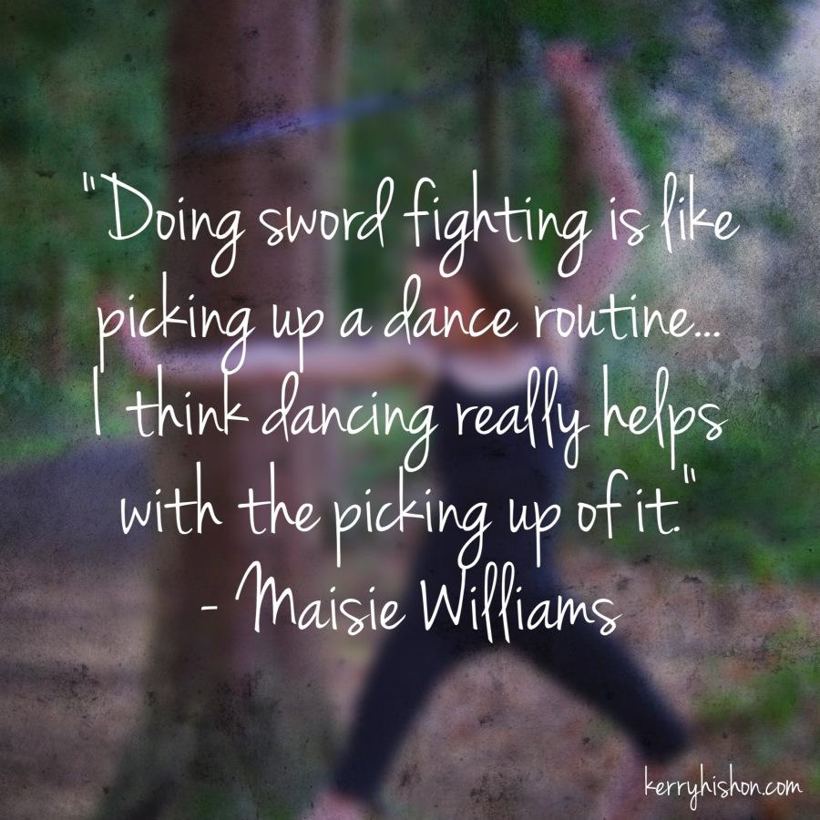 Wednesday Words of Wisdom - Maisie Williams