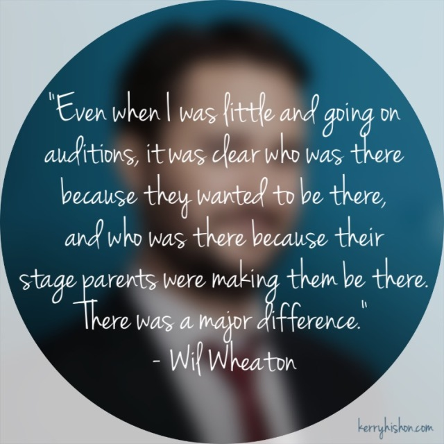 Wednesday Words of Wisdom - Wil Wheaton