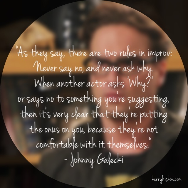 Wednesday Words of Wisdom - Johnny Galecki