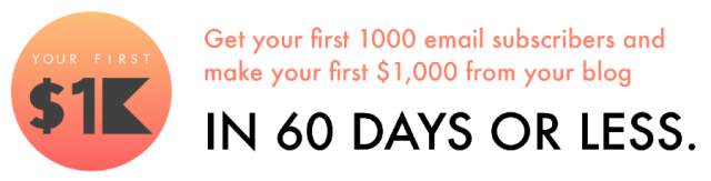 your first 1k logo