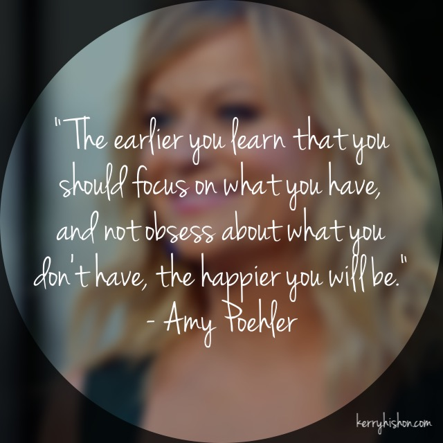 Wednesday Words of Wisdom - Amy Poehler (A Double Dose!)